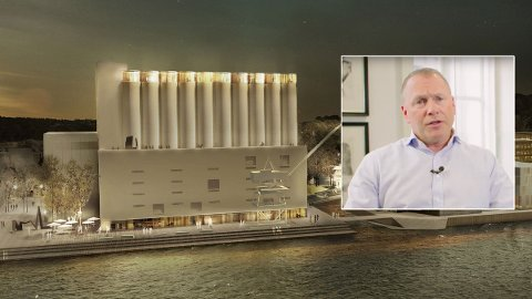 PUNGER UT: Milliardæren Nicolai Tangen (innfelt) skyter inn hele 100 millioner kroner fra egen lomme for å støtte kunstsiloprosjektet.