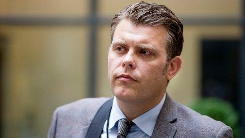 I hardt vær: Justisminister Jøran Kallmyr. Foto: Håkon Mosvold Larsen / NTB scanpix