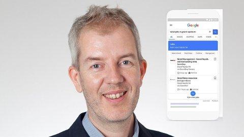 TØFF KONKURRANSE: Markedssjef Christian Børresen mener at Google for Jobs vil revolusjonere jobbsøkingen i Norge.
