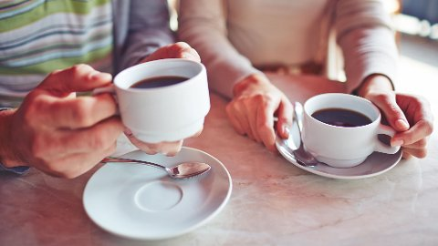 KAFFE: Nordmenn er glad i svart kaffe.