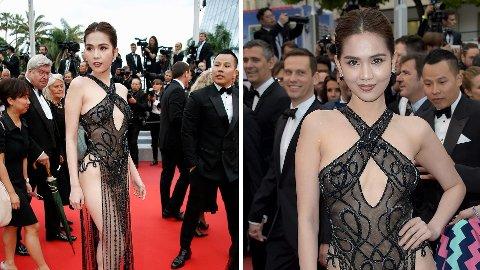KAN FÅ BOT: Ngoc Trinh risikerer bot for antrekket hun hadde på seg under filmfestivalen i Cannes.
