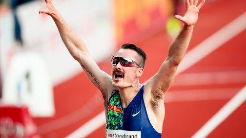 REKORD: Henrik Ingebrigtsen satte ny norsk rekord på 3000 meter under Bislett Games 2019.