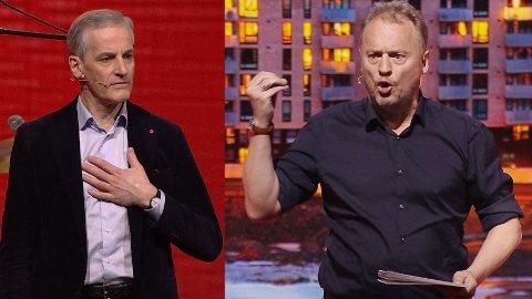 TRØBBEL I ROSENES LEIR: Både Arbeiderpartiets partileder Jonas Gahr Støre (t.v) og Oslos byrådsleder Raymond Johansen sliter med dårlig oppslutning.
