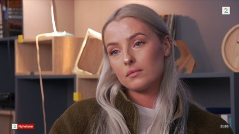 SOFIE: 27 år gamle Sofie fortalte TV 2 hvordan hun hadde blitt behandlet av VG i forbindelse med hennes møte med Trond Giske på Bar Vulkan. VG har fått massiv kritikk for sin journalistikk etter TV 2-intervjuet.