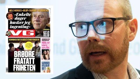 VG og sjefredaktør Gard Steiro fikk de fleste riksmediene med seg på den ensidige framstillingen av Tolga-saken.