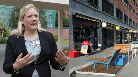 RASER: Aina Stenersen fra Frp er lei av stadig flere gatestenginger, og vil ha plass til bilen - også i Oslo.