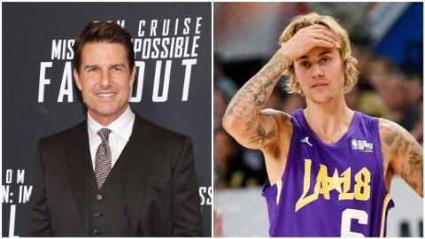 MØTES DE I RINGEN? Justin Bieber virker overivrig etter å møte Tom Cruise i ringen, og UFC-general Dana White har også fått inntrykk av at Cruise skal være lysten på kamp.