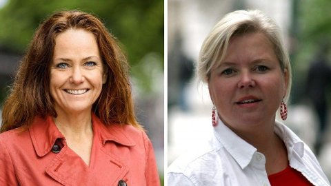 VENNINNER: Klimadirektør Heidi Sørensen (t.v.) har brukt betydelige summer på PR-råd fra byrået Footprint hvor partivenninnen Silje Tveitdal (t.h.) er rådgiver for klima.