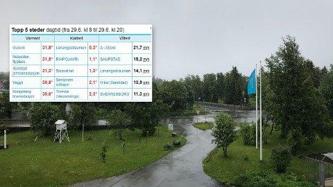 STOR FORSKJELL: Det var store temperaturforskjeller i Norge lørdag.