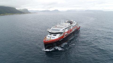 Hurtigrutens nye hybridskip MS Roald Amundsen. Foto: Hurtigruten / NTB scanpix