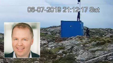 LEI: Stig Tore Laugen, konserndirektør i Trønderenergi, er lei av at aksjonister tar seg inn på anleggsområdet til Frøya vindpark i Trøndelag. Det kan medføre farer for aksjonistene, og selskapet lider tap når de må stanse arbeidet.