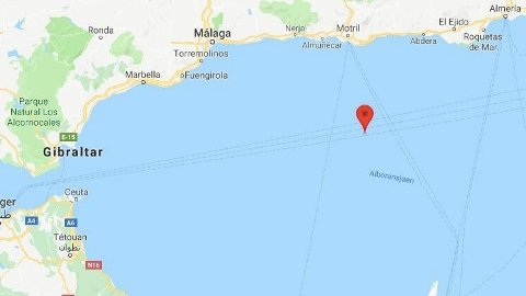 REDDET MIGRANTER: Spansk kystvakt har reddet over hundre migranter i Alboransjøen i Middelhavet.