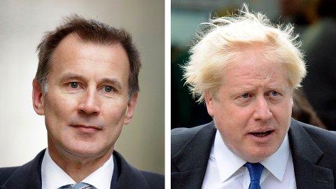 Jeremy Hunt og Boris Johnson er kandidater til å bli britisk statsminister.På spørsmål om de er enige med statsminister Theresa Mays fordømmelse av Trumps Twitter-meldinger, svarer begge bekreftende, men ingen av dem ville stemple Trump som rasist.