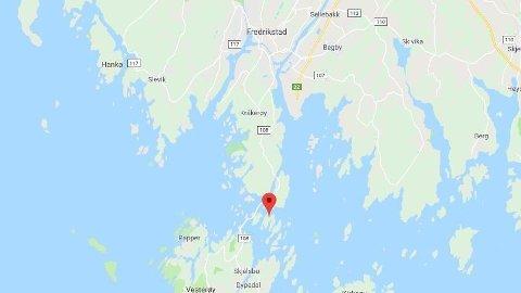 STRANDET: En kvinne i 50-årene skal ha vært strandet på Furuholmen i Fredrikstad i tre dager.