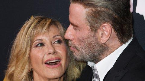 SUKSESS: Olivia Newton-John avslører flere detaljer fra frieriet med ektemannen John Easterling. Her er hun avbildet sammen med John Travolta, som hun spilte mot i den verdenskjente filmen «Grease».