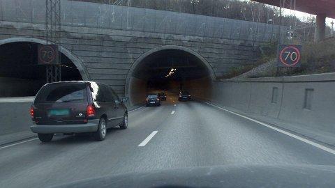PÅ TUR: Fire polske turister hadde tatt turen inn i Ekebergtunnelen lørdag.
