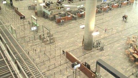 UNDERSØKTE GJENSTAND: En gjenstand ved sikkerhetskontrollen på Oslo Lufthavn virket mistenkelig, og politiet sperret av et område for en liten stund.