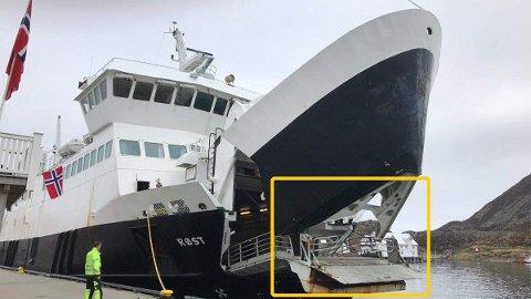 DUNDRET I KAIA: MS Røst i Lofoten dundret rett i kaia den 17. mai i år. Etter Nettavisens avsløringer har myndighetene snudd, og gitt medhold til klagen fra Norsk Sjøoffisersforbund.
