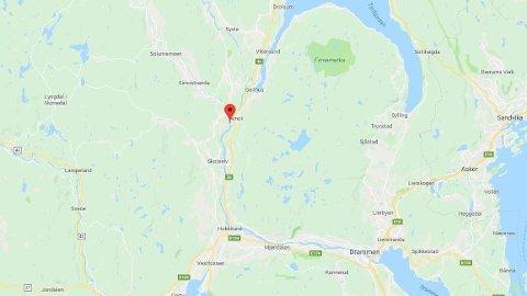 DØDE: En person døde etter en drukningsulykke ved Åmot i Buskerud.