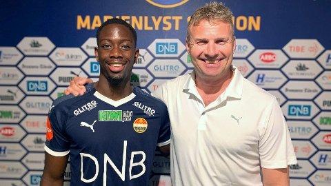 NYSIGNERING: Franske Prosper Mendy er en av to nye spillere i Strømsgodset.