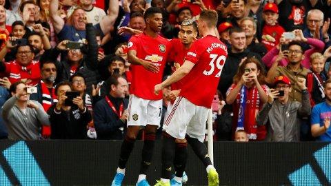 JUBEL: Manchester United kunne juble for seier mot Chelsea.