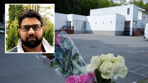 STØTTE: Waheed Ahmed, som representerer Al-Noor-moskeen i Bærum, sier det er viktig at de viser støtte til familien til den drepte 17-åringen.