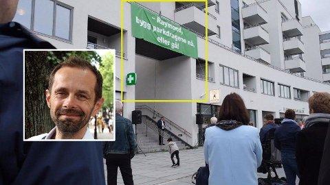 Beboerne på Ensjø er lei av å vente på parkdragene de ble lovet av byrådet allerede i 2007. Venstres Hallstein Bjercke er også frustrert og melder om et folkelig «parkbrøl» fra flere steder i Oslo. Foto: Espen Teigen/Mediehuset Nettavisen og Beboeraksjonen på Ensjø.