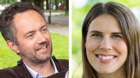 Arne Haabeth og Sirin Stav representerer Miljøpartiet De Grønne i Oslo ved høstens kommunevalg. Foto: Alexander Winger/Mediehuset Nettavisen og MDG