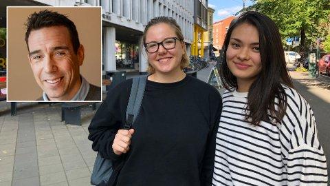 JOBBER: Nanette Reese fra Jar (til venstre) og Rosemarie V. Solås fra Tønsberg har begge fullt studielån og jobber ved siden av studiene. Det hjelper veldig på økonomien, mener de to. Å jobbe ved siden av studiene mener privatøkonom Eldar Rønning i Sparebank 1 SMN er lurt.