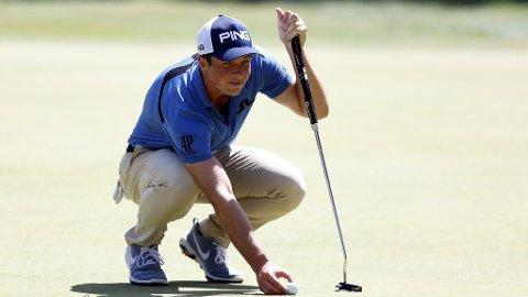 GODT MED: Viktor Hovland er godt med i turneringen i Idaho.