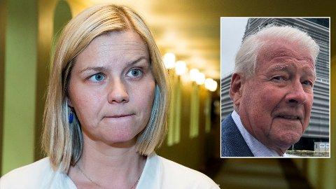 SMÅLIG: Venstres Guri Melby mener det er småling av Carl I. Hagen å kritisere Venstre etter bompengestriden i regjeringen.
