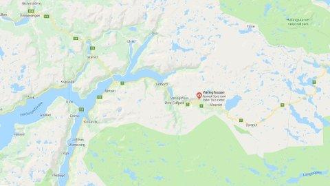 ULYKKE: En mann skal ha falt ned i elven ved Vøringsfossen i Eidfjord kommune i Hordaland mandag kveld.