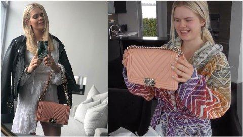 GAVE SOM GLEDER: I anledning Julianne Nygårds 29-årsdag ga ektemannen Ulrik Nygård henne en Chanel Boy-veske. – Bursdagsgave fra Ulrik er viktig. Det er viktigere og mer personlig enn julegave, synes jeg, sier Julianne.
