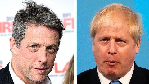 HARDT UT: Hugh Grant går hardt ut mot Boris Johnson.