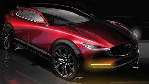 Mazda har invitert presse fra hele verden til Norge, for å få teste en helt ny elbil. Dette bildet er av den nye crossoveren CX-30. Det er slett ikke usannsynlig at den blir en del av den nye, elektriske satsningen fra japanerne.