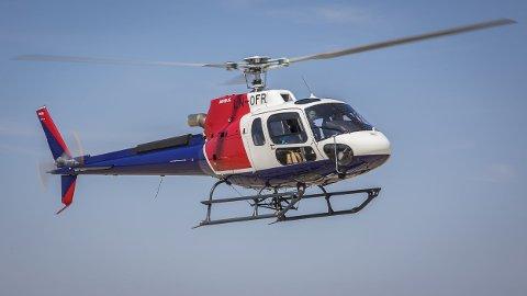 SETTES PÅ BAKKEN: Bilde av helikopteret som Helitrans fikk levert sammen med det som lørdag styrtet i Alta. Nå settes alle helikoptrene på bakken. Foto: Airbus / TT Nyhetsbyrån / NTB scanpix