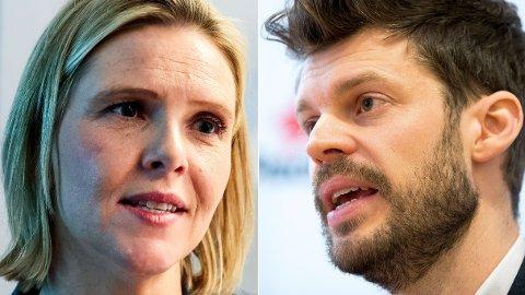 Eldreminister Sylvi Listhaug og Rødt-leder Bjørnar Moxnes. Foto: NTB/scanpix