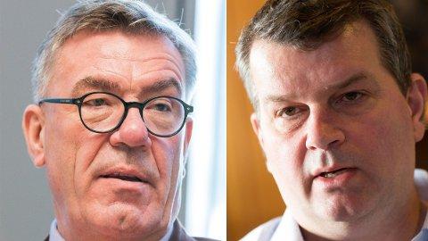 KNUSER DE RIKE: LO-leder Hans-Christian Gabrielsen (t.h.) bidrar med langt mer enn Høyres rike onkler som Stein Erik Hagen (t.v.)
