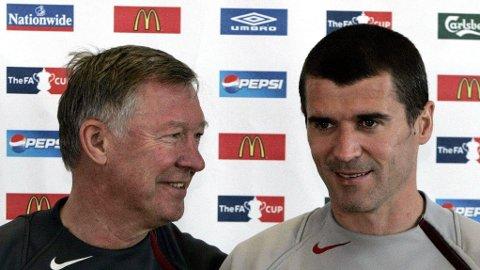 DEN GANG DA: Sir Alex Ferguson og Roy Keane.