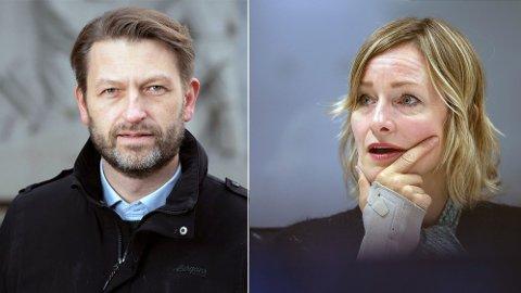 Høyres byrådslederkandidat Eirik Lae Solberg og SVs skolebyråd Inga Marte Thorkildsen i opphetet debatt om kollektiv- og samferdseslssatsing i Oslo.