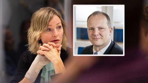 SVs skolebyråd i Oslo, Inga Marte Thorkildsen, har fått tidligere samferdselsminister Ketil Solvik-Olsen (Frp) til å reagere. Foto: Magnus Blaker/Nettavisen og Frp.