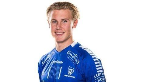 TALENT: Sebastoian Jarl ble hentet til Sarpsborg 08 før sesongen. Nå lånes han ut til OBOS-ligaen og KFUM Oslo.
