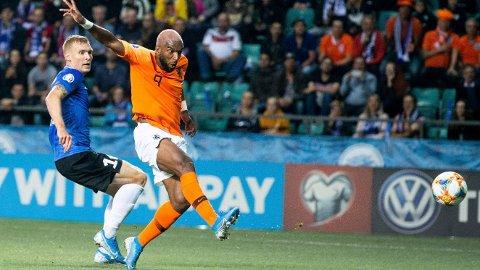 I FORM: Ryan Babel satte to baller i nettet mot Estland mandag kveld.