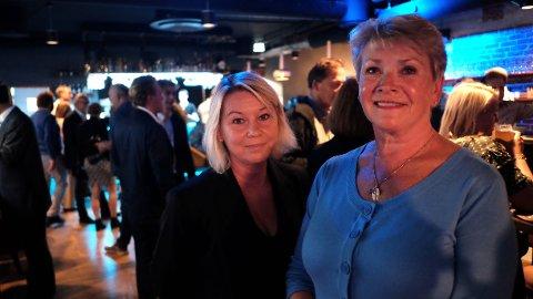 GIKK IKKE SOM HÅPET: Høyre er fortsatt størst i Bergen med 20,2 prosent, men det ser ikke ut til at Erna Solbergs storbydrøm om Høyre-makt går i oppfyllelse her heller. På bildet kommunalminister Monica Mæland og Høyres ordførerkandidat Hilde Onarheim på partiets valgvake i Bergen.