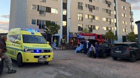 BRANN: En person er alvorlig skadd etter en brann på Spikkestad.
