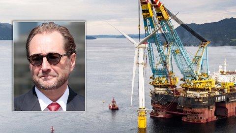 STORE PENGER: Kjell Inge Røkke (t.v.) kan tjene store penger om havvindprosjektet får milliarder i statlige subsidier.