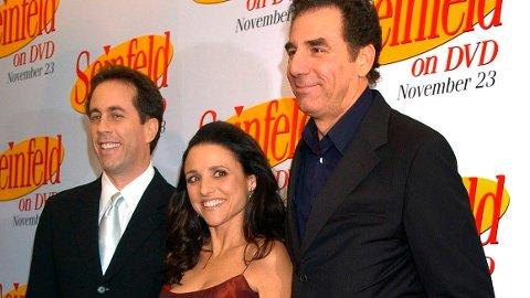 """POPULÆRE: Jerry Seinfeld (f.v.), Julia Louis Dreyfus og Michael Richards er tre av skuespillerne som gjorde """"Seinfeld"""" til et globalt fenomen på 1990-tallet."""