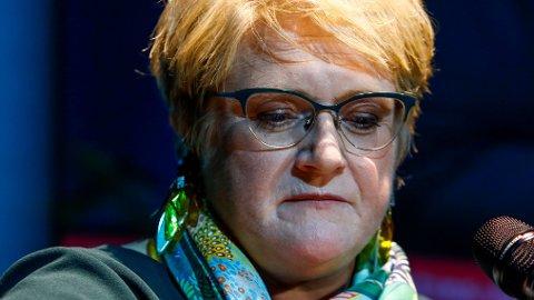 HARDT PRESSET: Venstre-leder Trine Skei Grande forholder seg taus - men det gjør ikke hennes kollega Abid Raja.