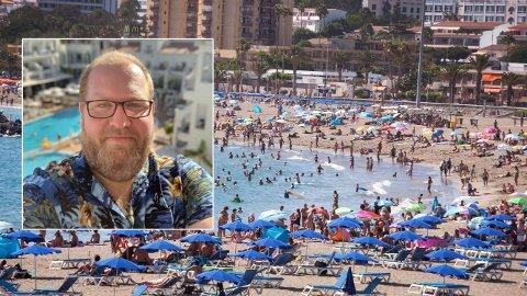 FLY-FAST: Tor Bernhard Slaathaug og familien sitter fast på Tenerife etter konkurs i Thomas Cook.