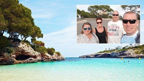 TAR DET MED RO: - Dette ordner seg, og vi skal ikke hjem før om en uke, sier Anne Folland Stolsmo (t.v.). Hun på ferie på Mallorca sammen med (f.v.) Anne Jorunn Stolsmo, Ole Vegard Reinås og Svein Stolsmo.